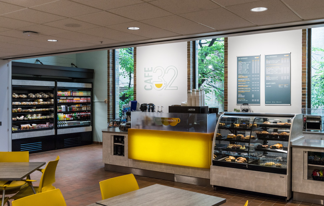 Cafe 32, located in the School of Dentistry.