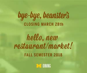 Beanster's Closing Michigan Dining